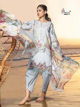 Ayesha Zara Premium Collection Vol 2 Cotton Dupatta with Open Image