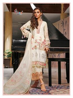 Shree Fabs Firdous Embroidered Lawn Collection Chiffon Dupatta with Open Image
