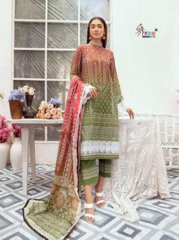 Shree Fabs CHARISMA SIGNATURE CHUNRI COLLECTION VOL 2 COTTON Dupatta with Open Images