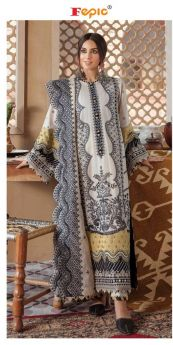Fepic Rosemeen Qalamkaar Lawn Collection with Open Images