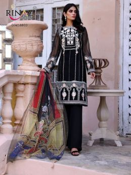 Rinaz Black Coin Lawn Collection with Open Image