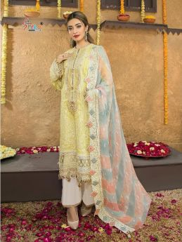 Shree Fabs Anaya Festival Lawn Collection Chiffon Dupatta with Open Image
