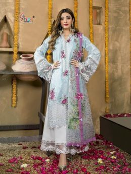 Shree Fabs Anaya Festival Lawn Collection Cotton Dupatta with Open Image